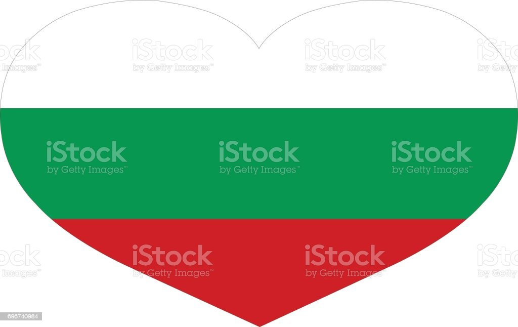 Bulgaria flag vector art illustration