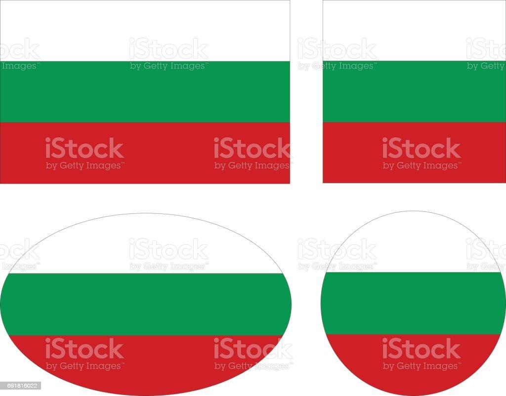 Bulgaria flags vector art illustration