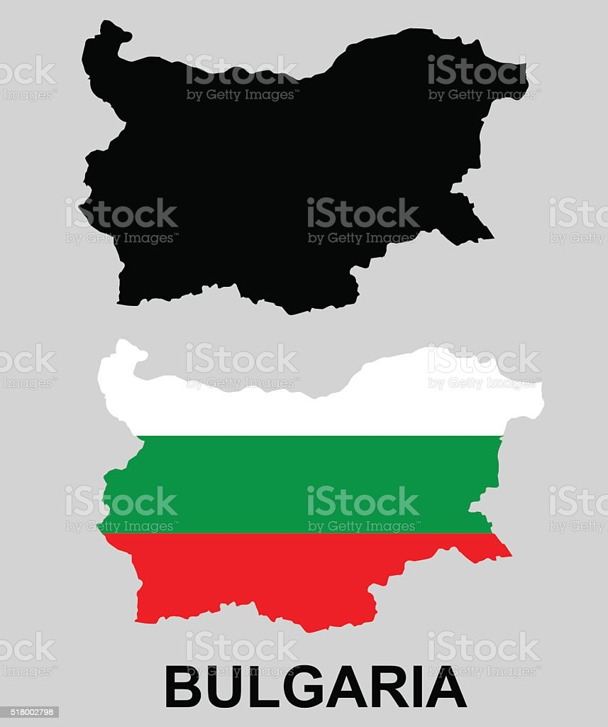 Bulgaria - national flag and borderline. vector art illustration