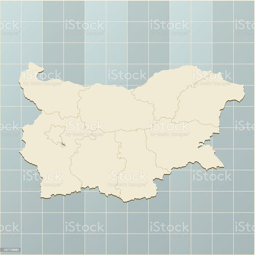 Bulgaria retro map royalty-free stock vector art
