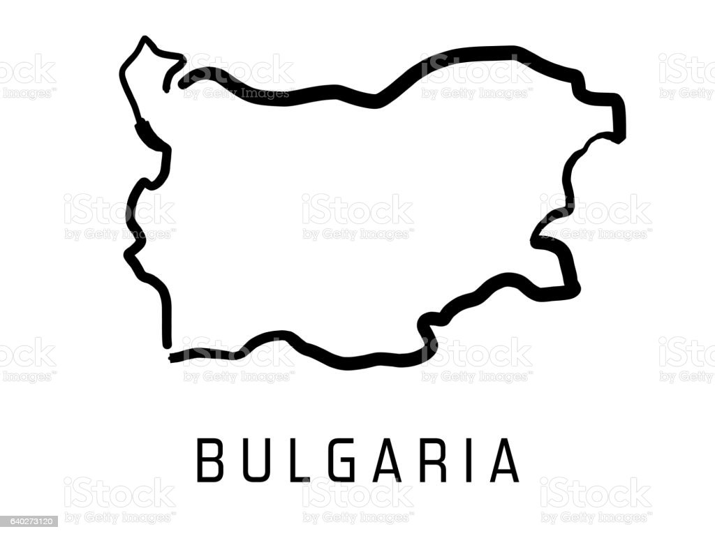 Bulgaria shape vector art illustration