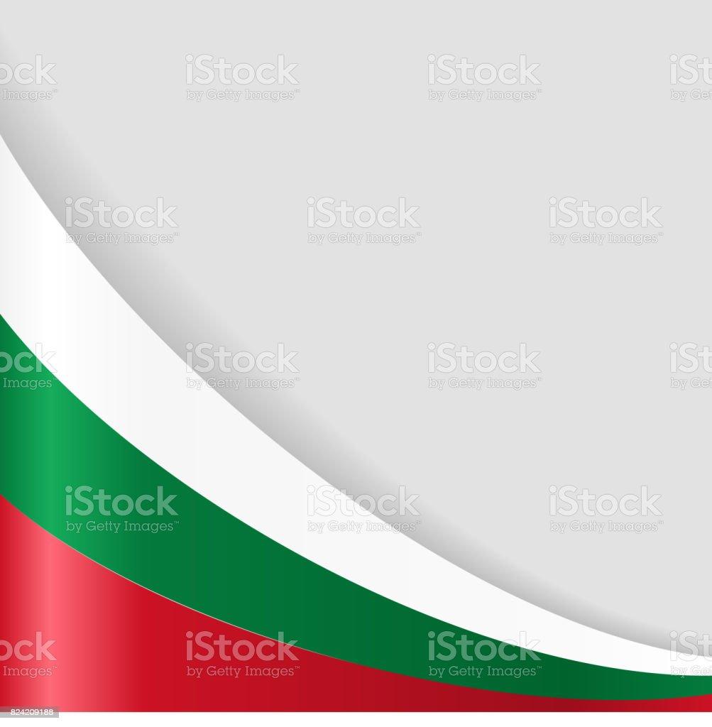 Bulgarian flag background. Vector illustration. vector art illustration