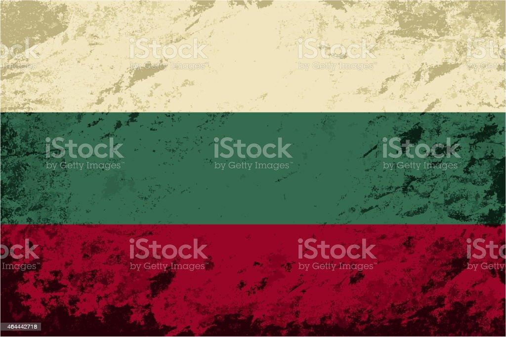 Bulgarian flag. Grunge background. Vector illustration vector art illustration