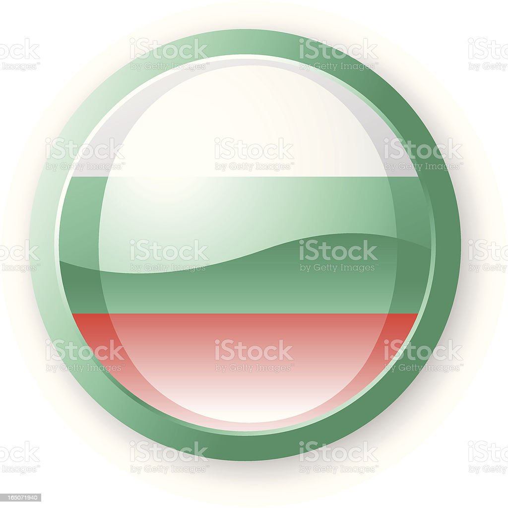 Bulgarian Flag Icon royalty-free stock vector art