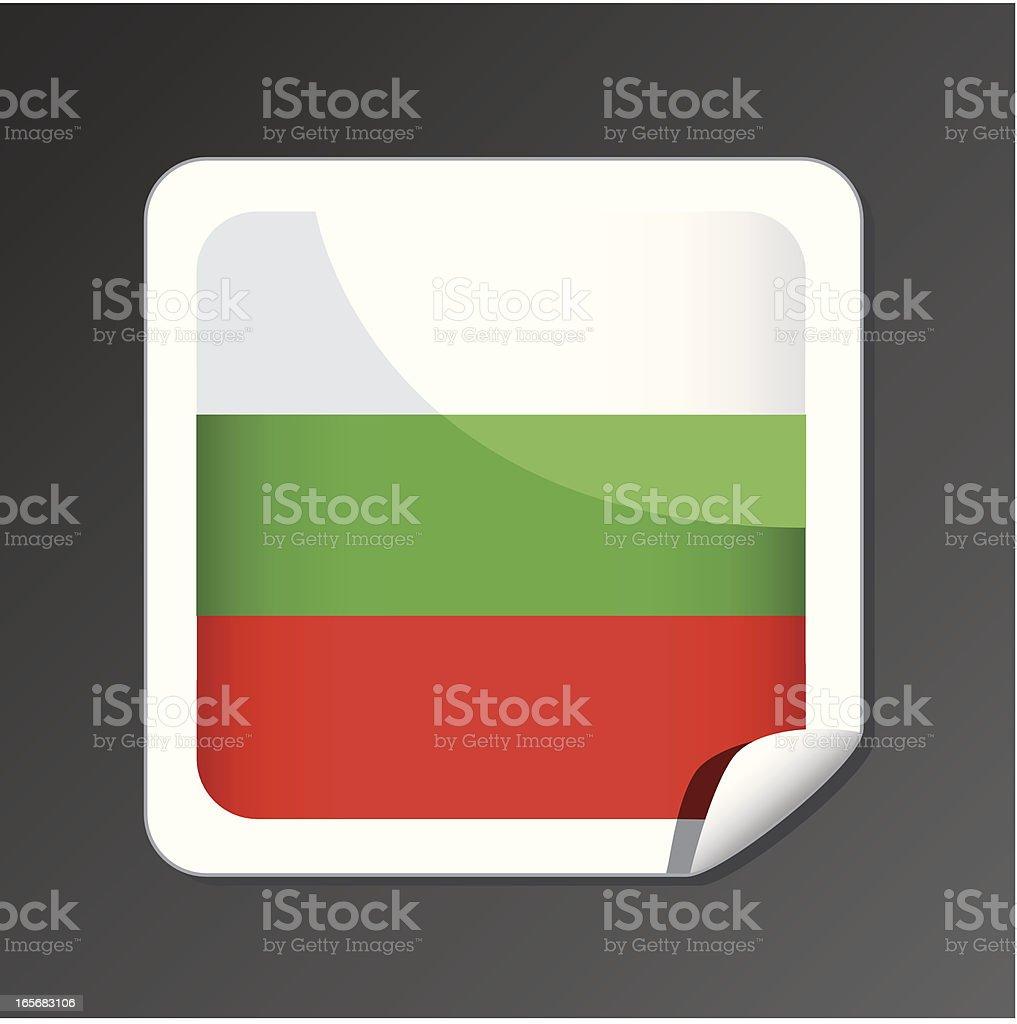 Bulgarian flag icon vector art illustration