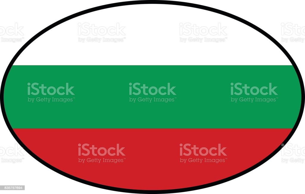 Bulgarian flag vector art illustration