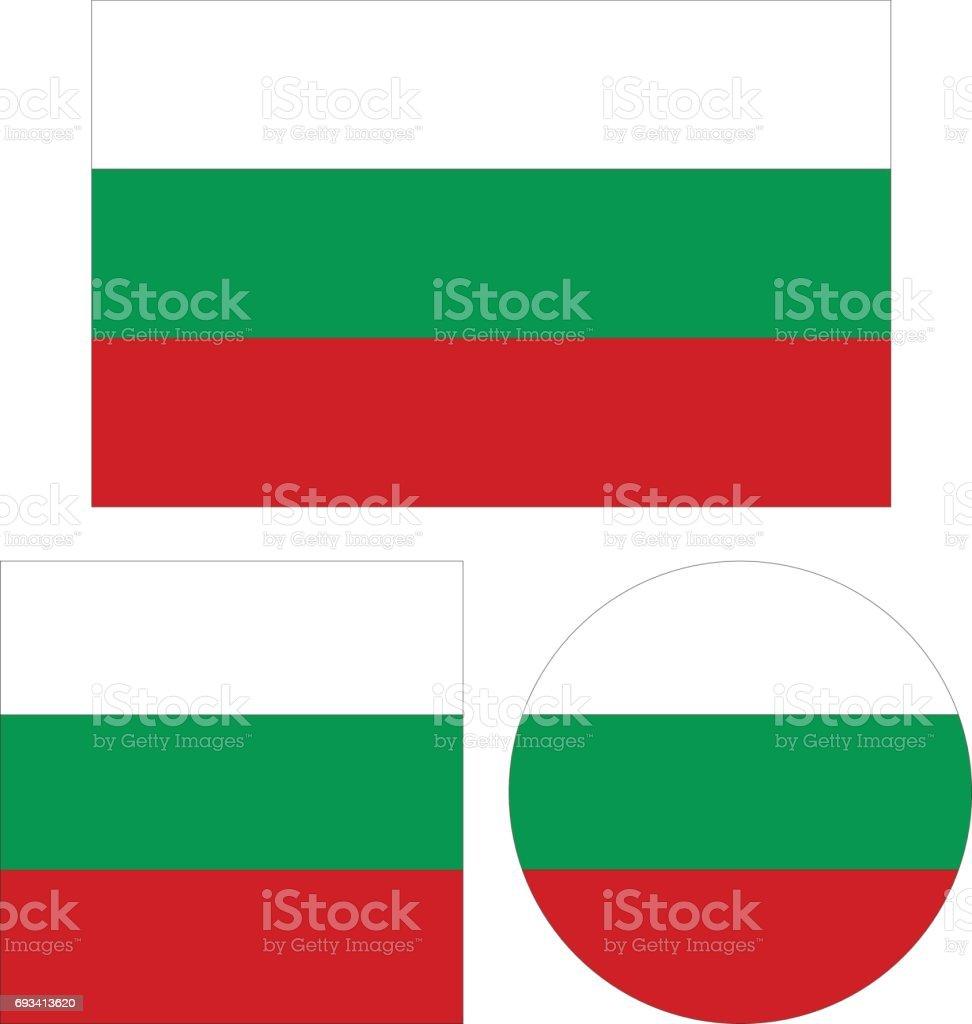 Bulgarian flags vector art illustration