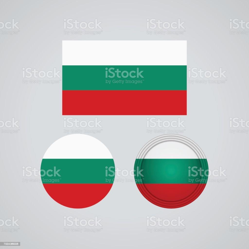 Bulgarian trio flags, vector illustration vector art illustration