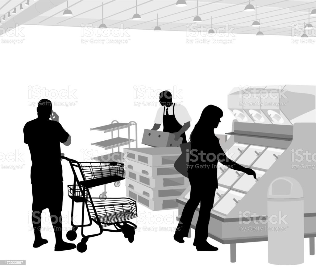 Bulk Groceries royalty-free stock vector art