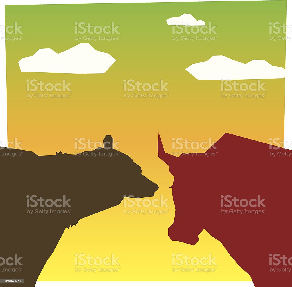 bull and bear royalty-free stock vector art