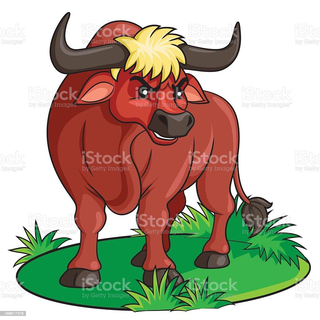 Bull Cartoon vector art illustration
