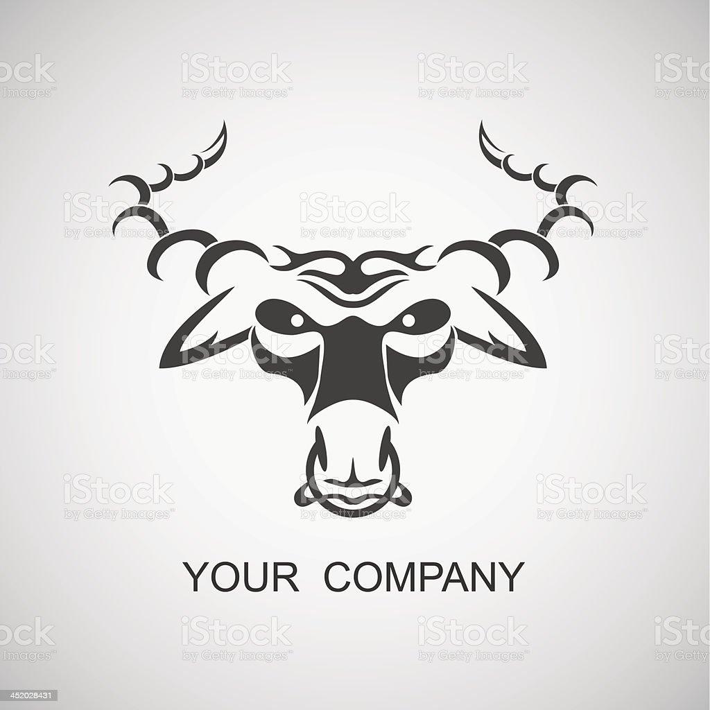 bull emblem vector art illustration