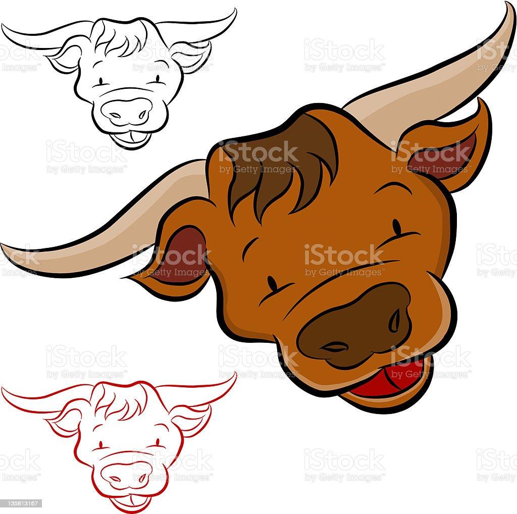 Bull Farm Animal vector art illustration