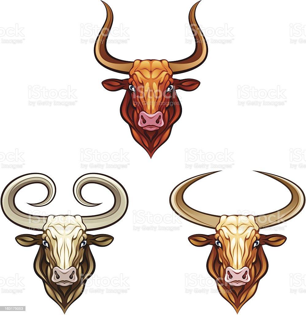 Bull head vector art illustration