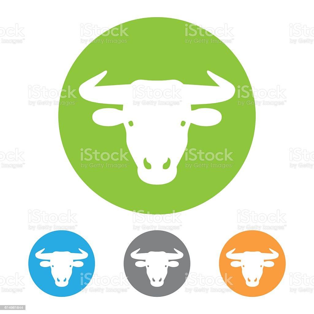 Bull icon vector vector art illustration