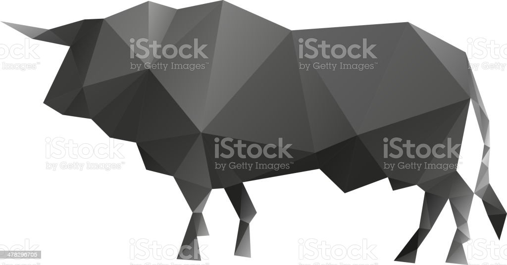 Bull isolated on a white backgrounds royalty-free stock vector art