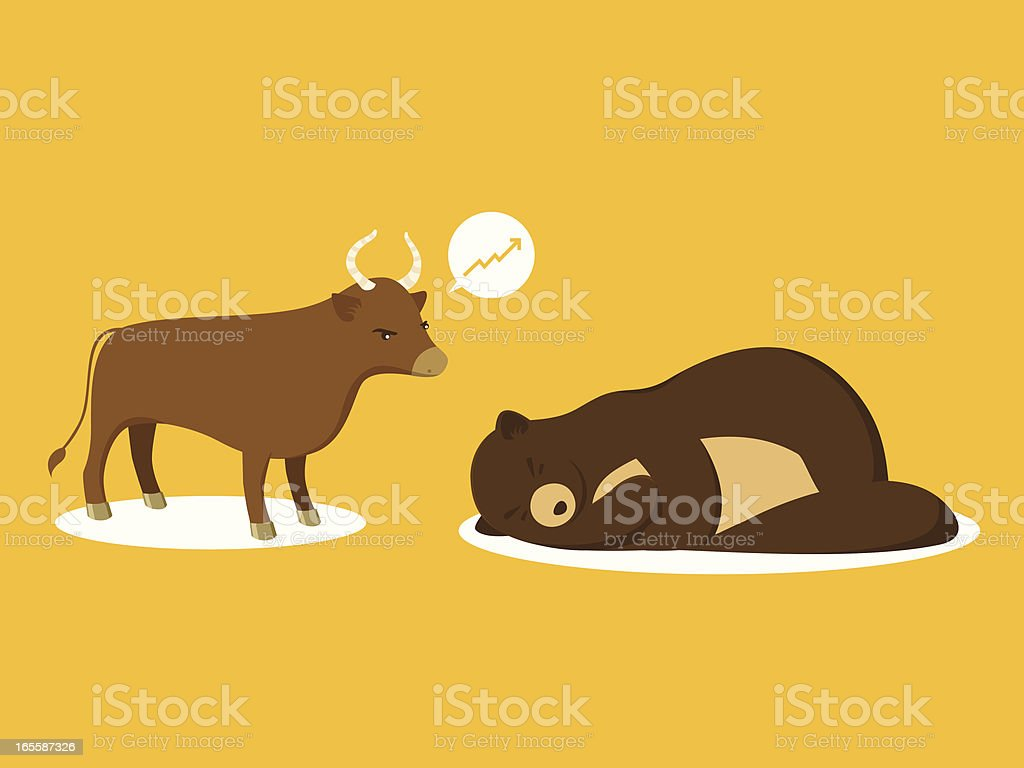 Bull Market royalty-free stock vector art