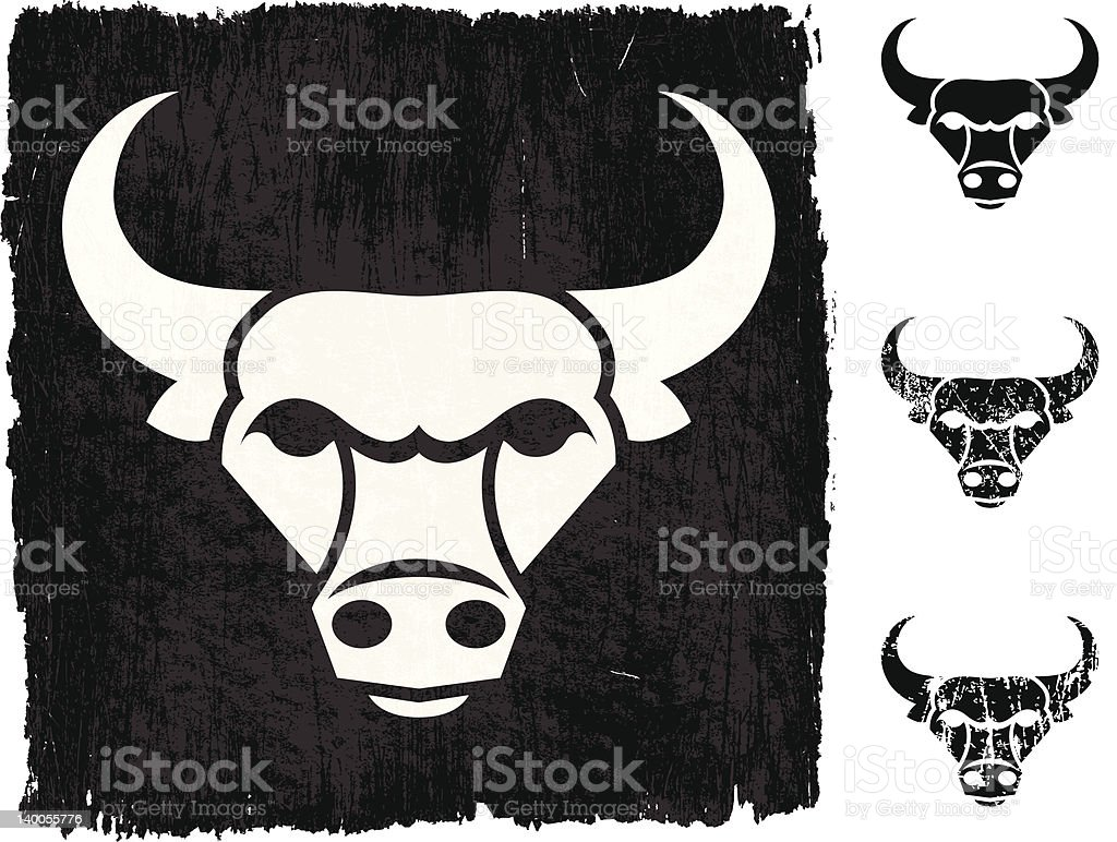 bull on royalty free vector Background royalty-free stock vector art