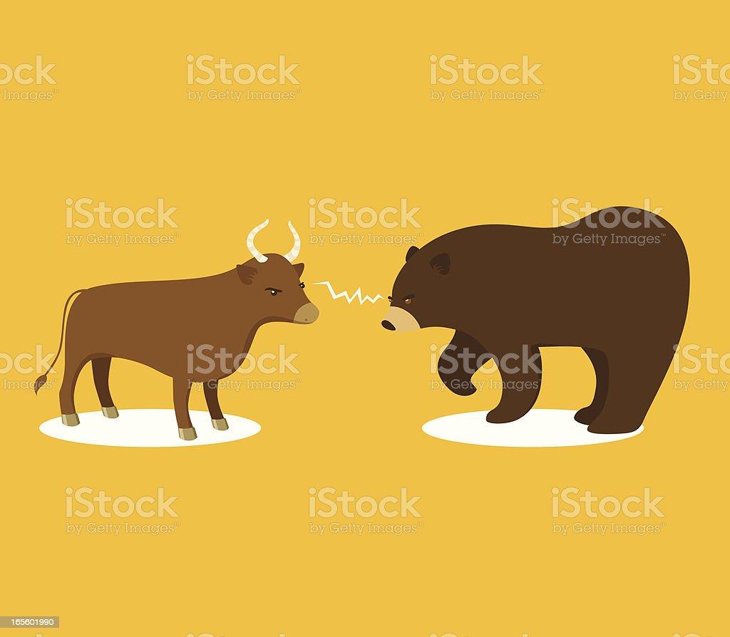 Bull or Bear Market royalty-free stock vector art