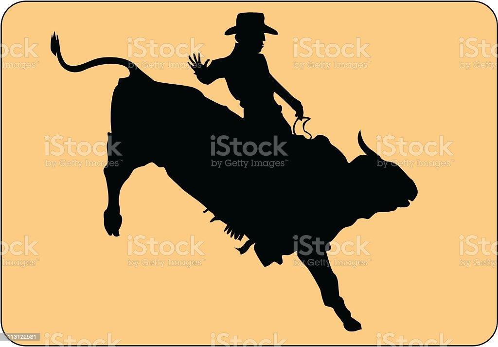 Bull Riding Rodeo (Vector) royalty-free stock vector art