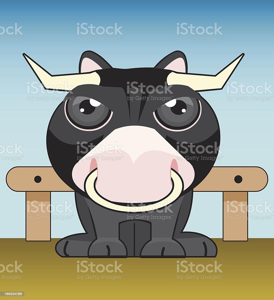 bull vector art illustration