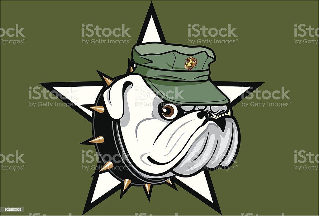 Bulldog Marine royalty-free stock vector art