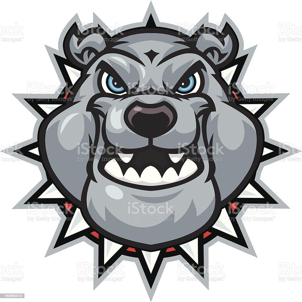 Bulldog Mascot Head royalty-free stock vector art