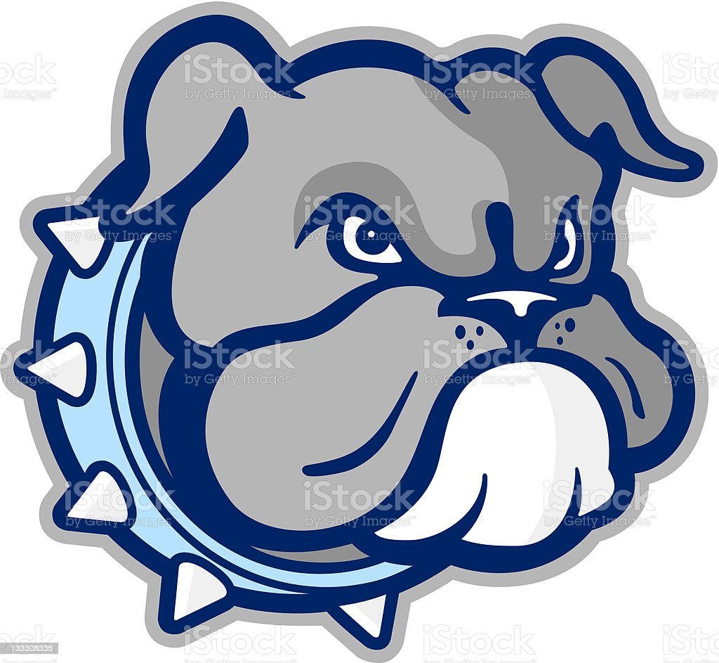 Bulldog Mascot royalty-free stock vector art