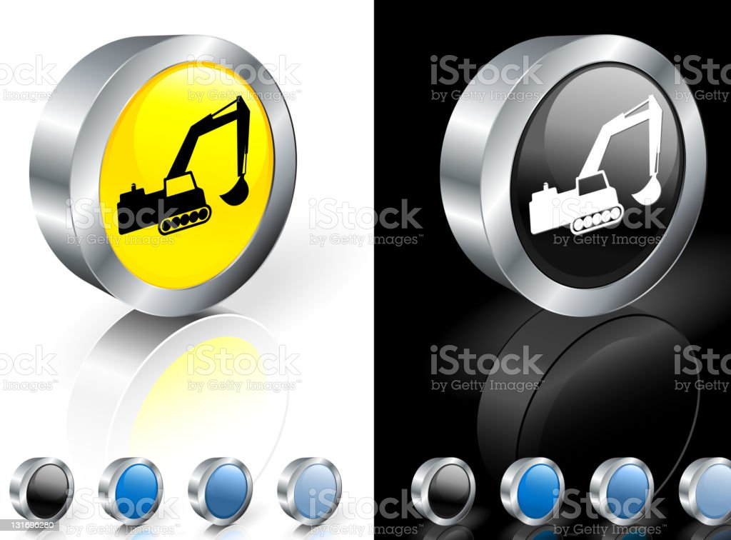 bulldozer 3D royalty free vector art royalty-free stock vector art