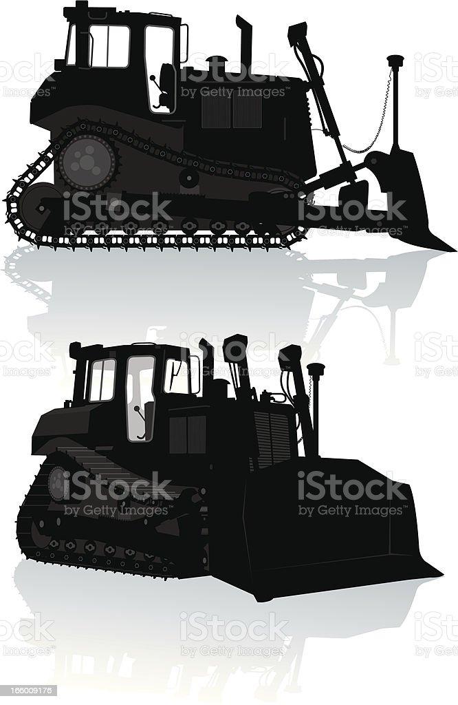 Bulldozer - Construction Equipment vector art illustration