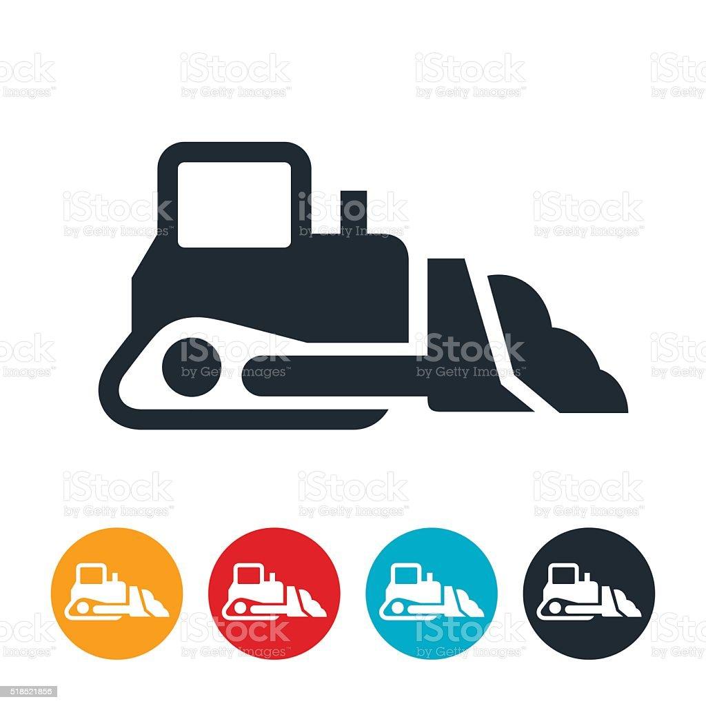 Bulldozer Icon vector art illustration