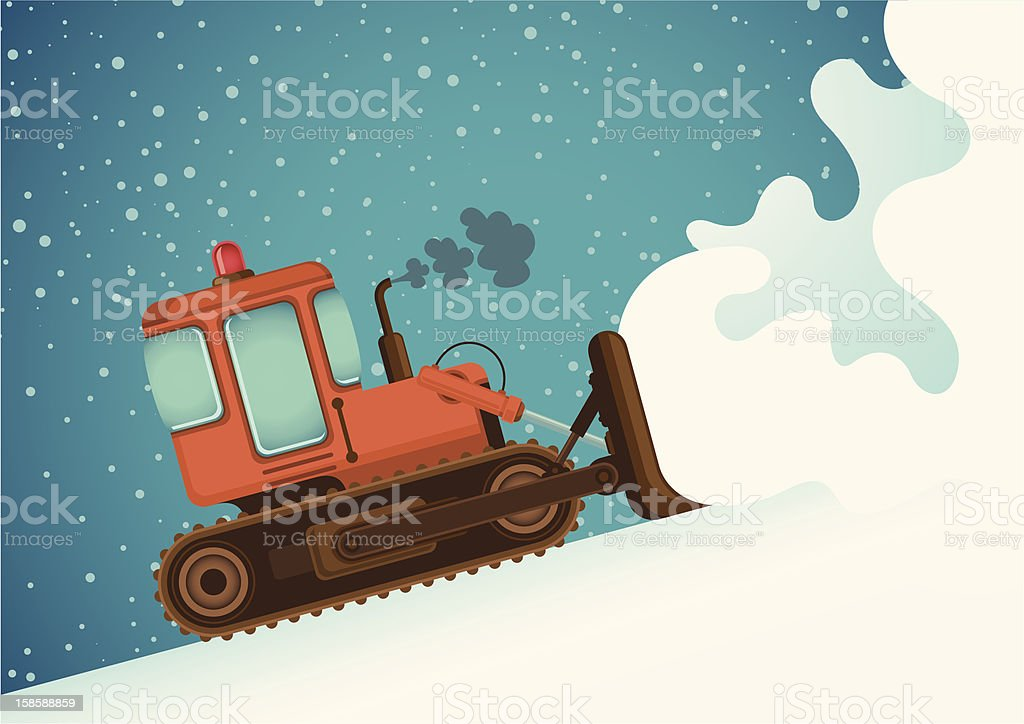 Bulldozer. vector art illustration