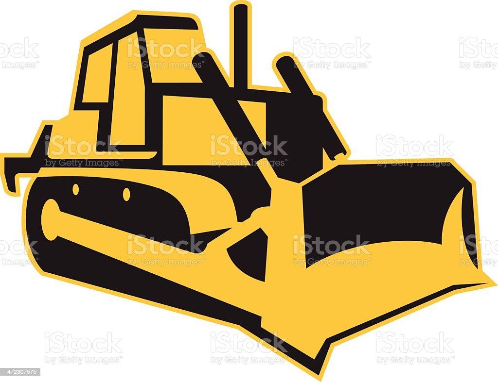 Bulldozer royalty-free stock vector art