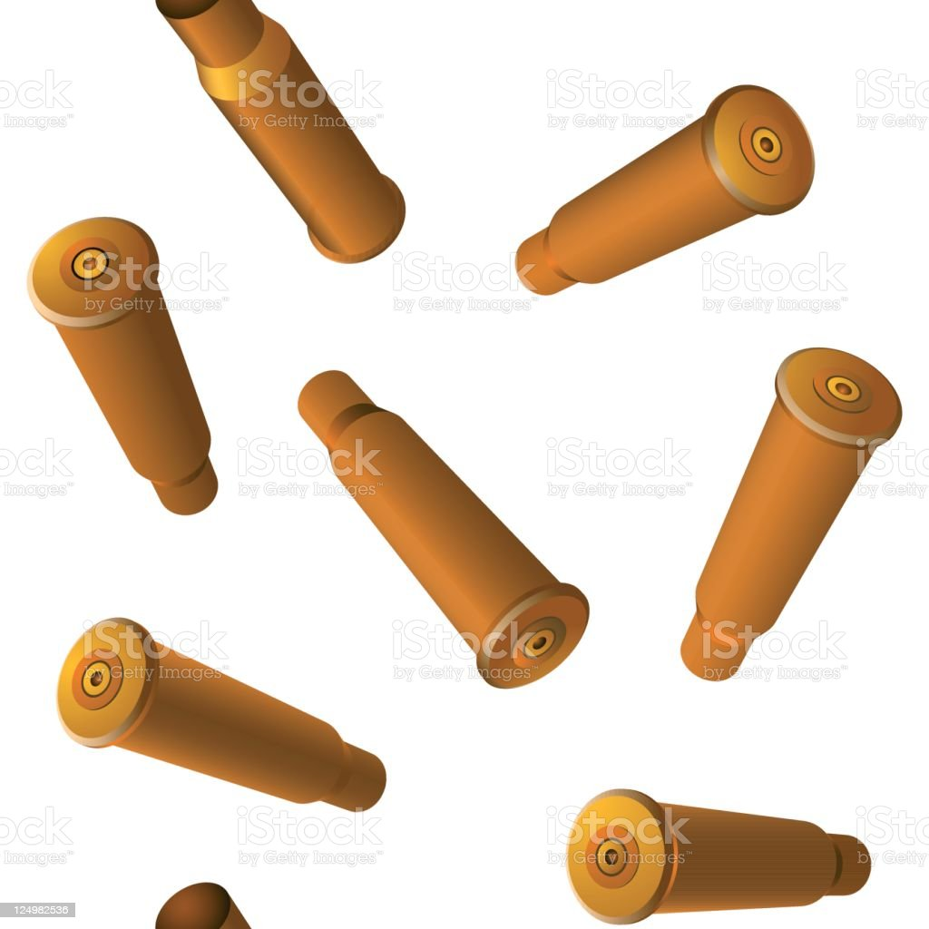 Bullet shells seamless vector wallpaper vector art illustration