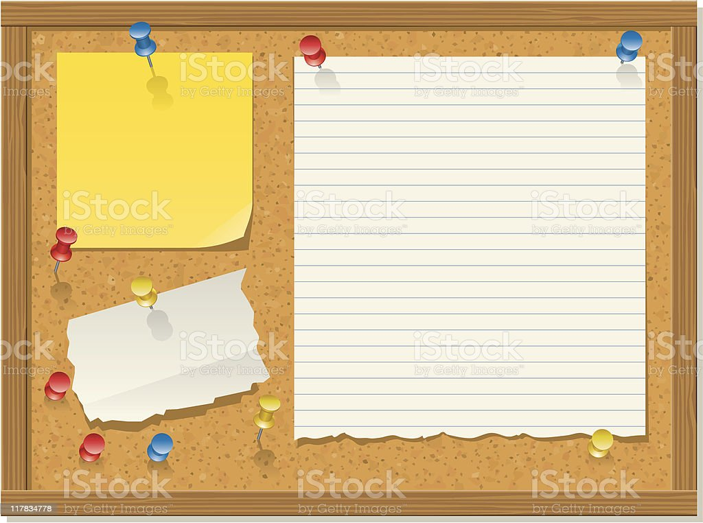 Bulletin board, horizontal version royalty-free stock vector art