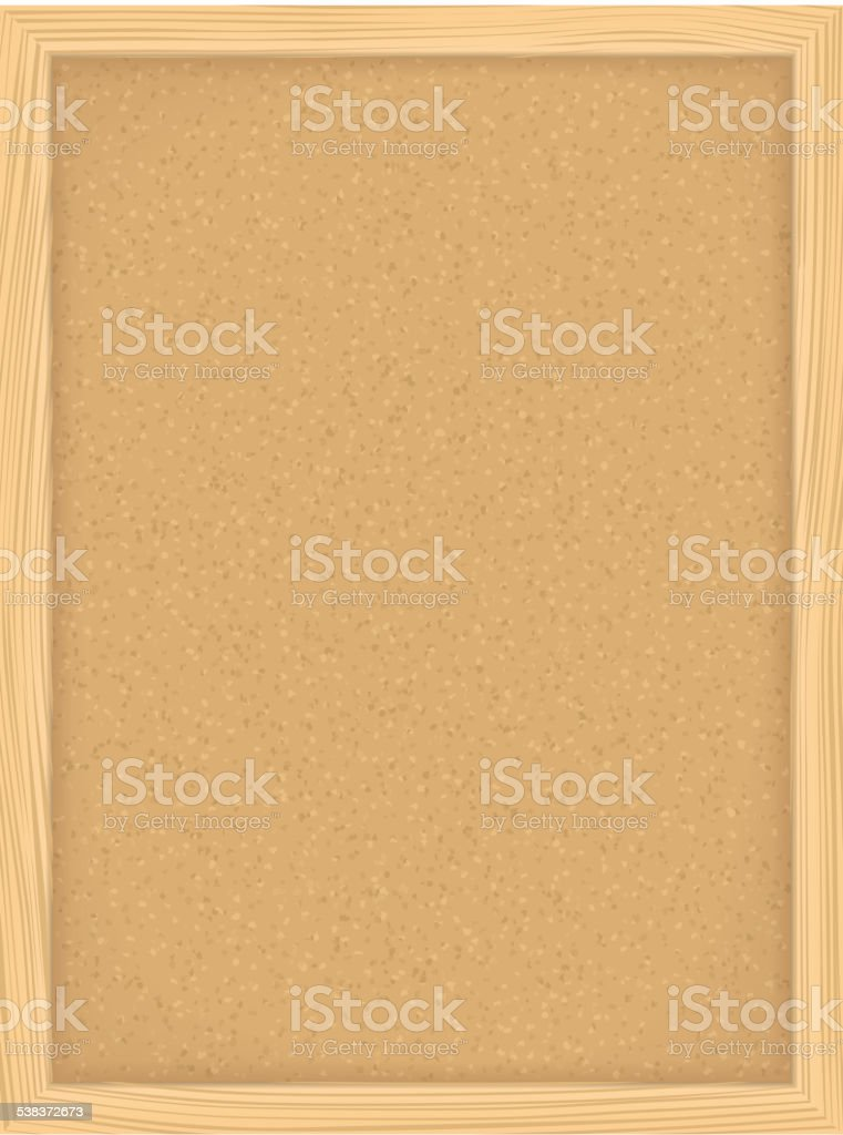 Bulletin Board vector art illustration