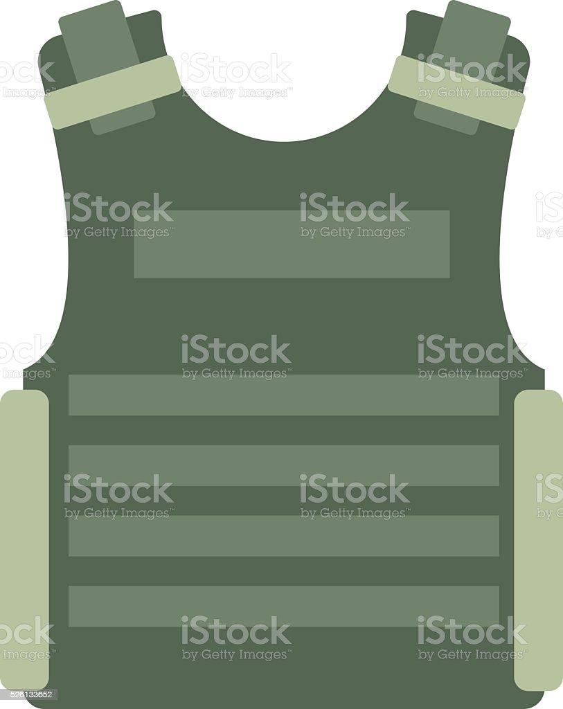 Bulletproof vest vector isolated vector art illustration