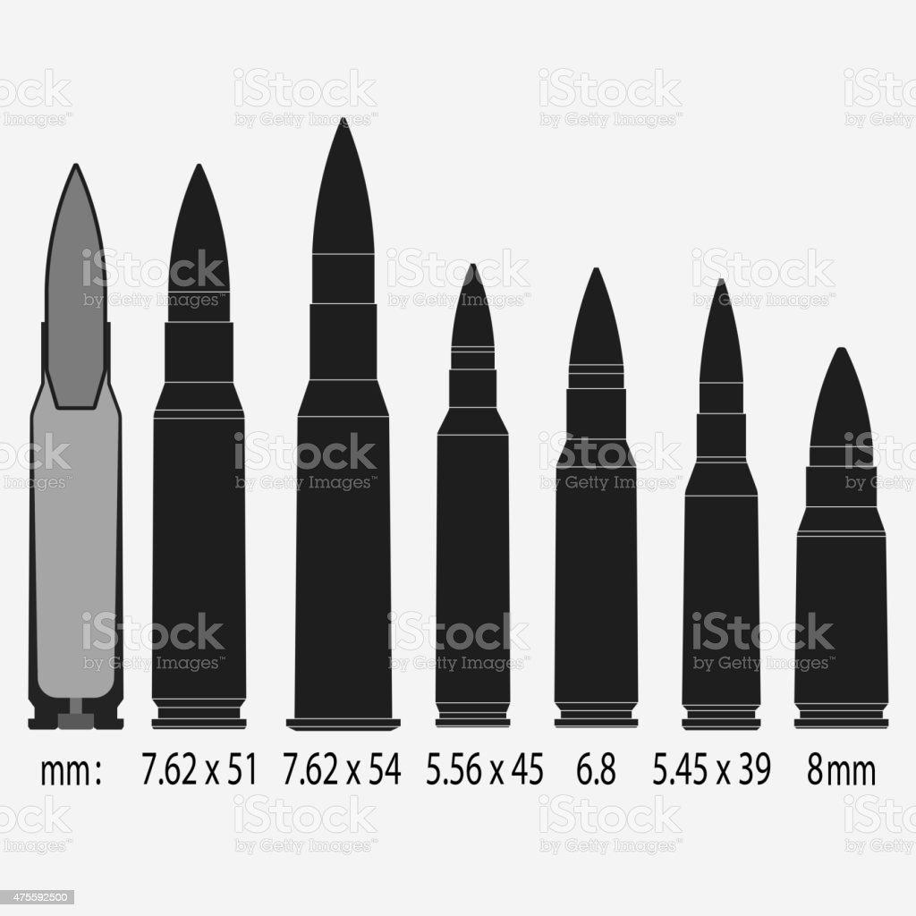 bullets Vector illustration vector art illustration