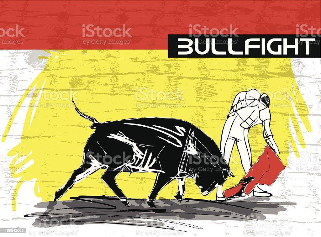 bullfight illustration royalty-free stock vector art