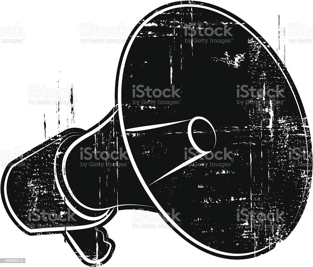 Bullhorn vector art illustration