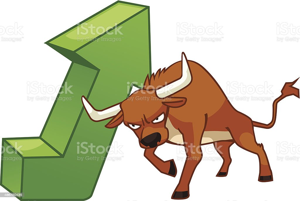 Bullish royalty-free stock vector art