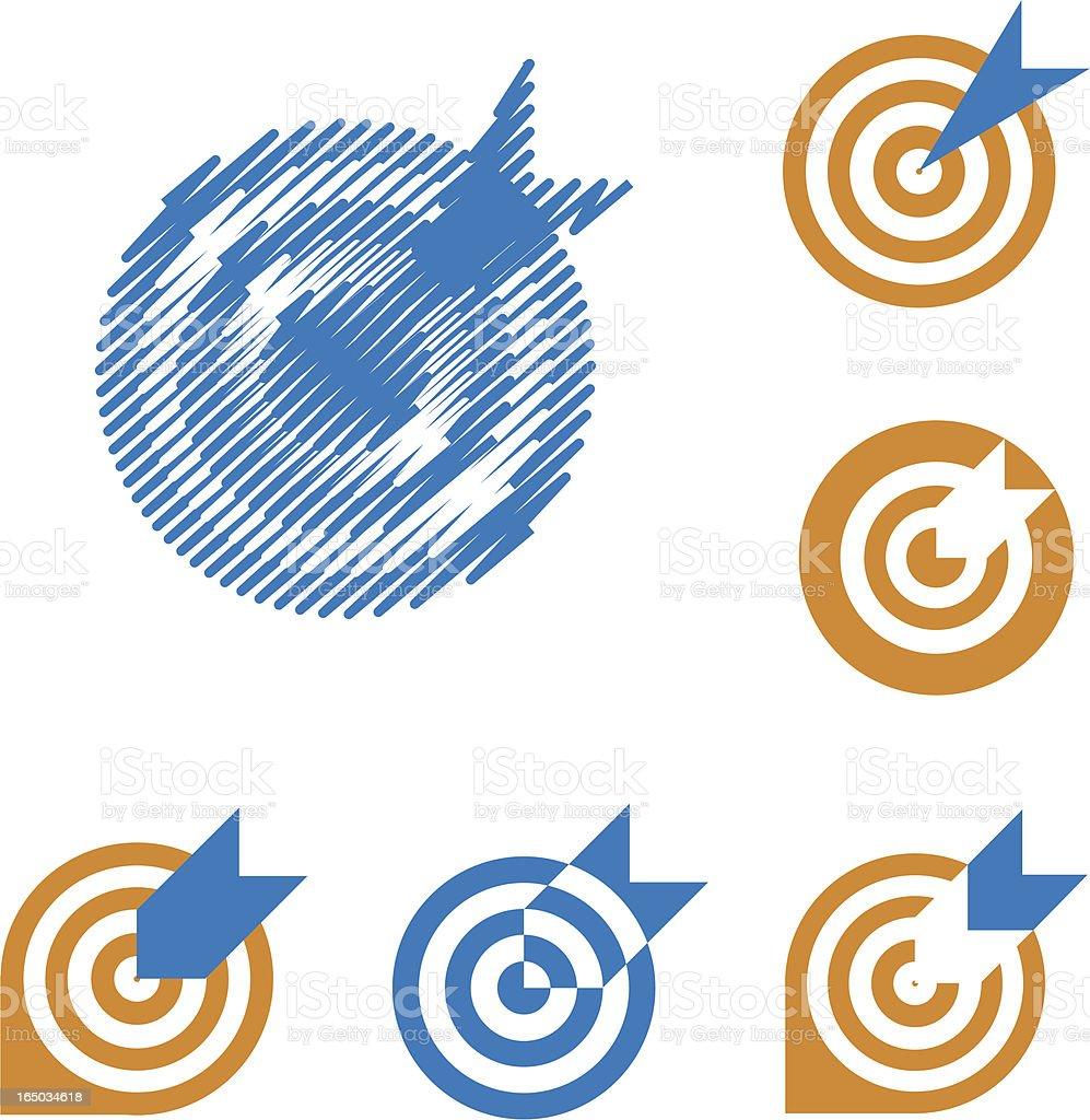 Bulls eye - vector symbols royalty-free stock vector art