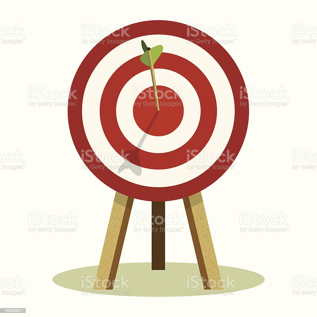 Bull's-Eye Concept royalty-free stock vector art