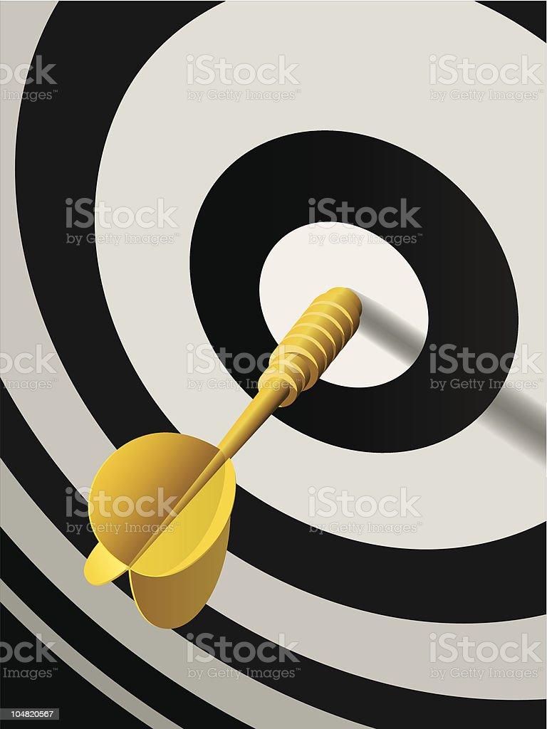 Bull's-Eye Target dart royalty-free stock vector art