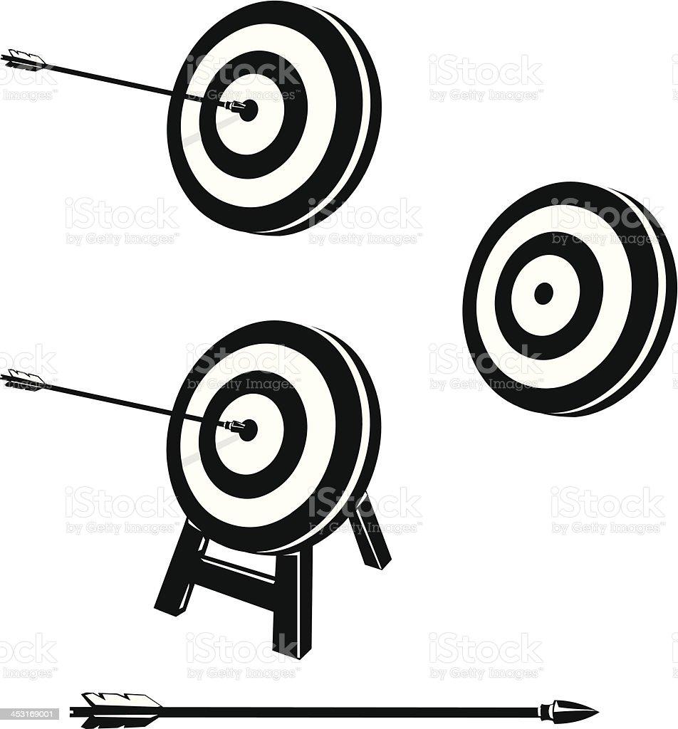 Bullseye Target Icons royalty-free stock vector art