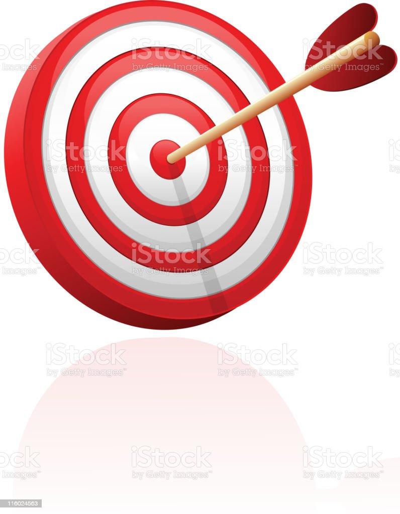 Bull's-Eye target with arrow royalty-free stock vector art