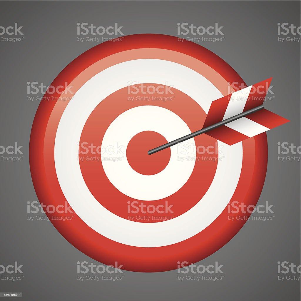 Bull's-eye royalty-free stock vector art