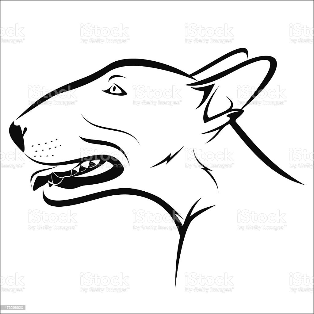 Bullterrier royalty-free stock vector art