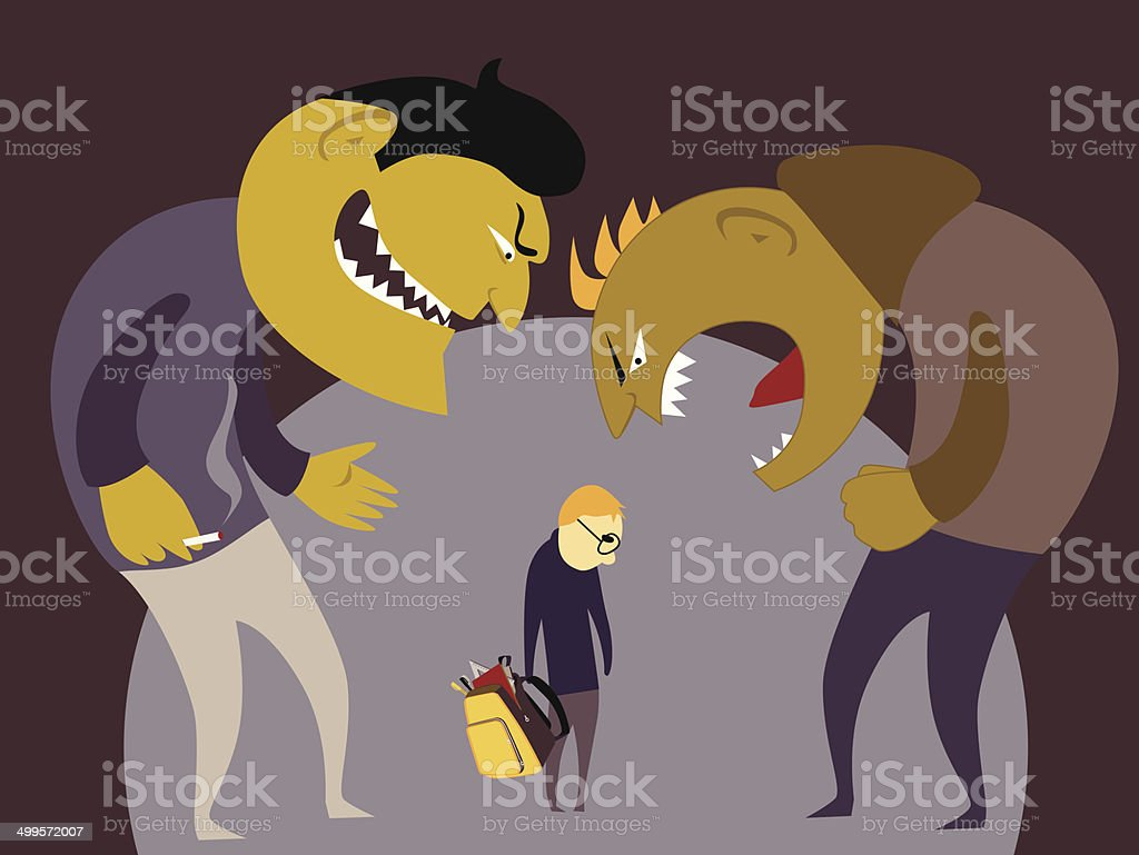 Bullying vector art illustration