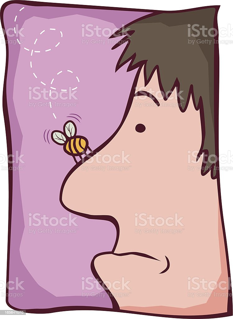 Bumble Bee Nose vector art illustration
